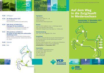 Auf dem Weg in die Zu(g)kunft in Niedersachsen - VCD