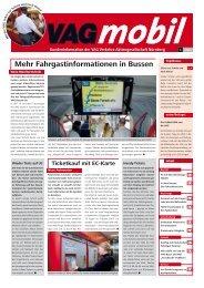 Mehr Fahrgastinformationen in Bussen - VAG