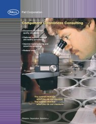 Component Cleanliness Consulting