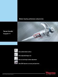 Master of purity performance and precision Thermo Scientific