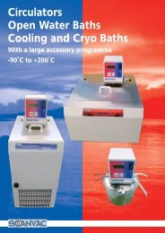 Circulators Open Water Baths Cooling and Cryo Baths