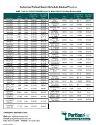 Authorized Federal Supply Schedule Catalog/Price List - PortionPac