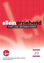 Alleinerziehend Tipps und Informationen - Vamv