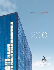 2010 Annual Report - Artis REIT