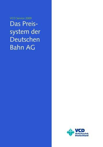Preissystem der Deutschen Bahn AG - VCD