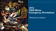 2012 NSW Mines Emergency Simulations