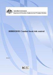 RIIRIS201B Conduct local risk control