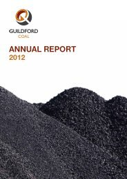 GUF Annual Report to Shareholders - Guildford Coal