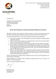 Sierra Hard Coking Coal Tenement Granted & Drilling to Commence