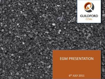 EGM Presentation - Guildford Coal