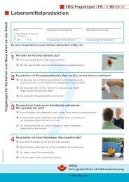 Fragebogen für Sicherheit und Gesundheit bei der Arbeit - VBG