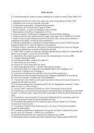Ordre du jour Conseil municipal 23 juin - Rochefort du Gard