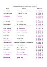 Liste des assistantes maternelles agrées au 7 avril 2011 Noms ...