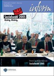 Sozialwahl 2005 - Unfallkasse Hessen