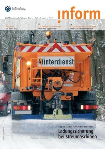 Ladungssicherung bei Streumaschinen - Unfallkasse Hessen