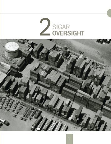 Contents SIGAR Oversight Contents