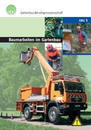 Baumarbeiten im Gartenbau - VBG