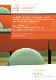 BGS-Tagung - BZG Bildungszentrum Gesundheit Basel-Stadt