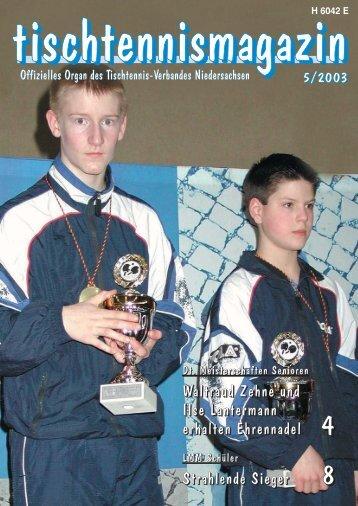 tischtennismagazin 5/2003 - TTVN