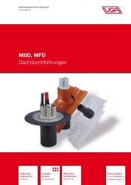 MSD, MFD Dachdurchführungen - UGA System Technik