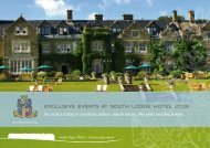 exclusive events at south lodge hotel