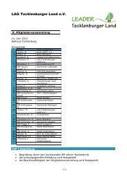 8. Mitgliederversammlung - Kreis Steinfurt
