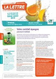 LA LETTRE - Crédit Agricole Charente-Maritime Deux-Sèvres