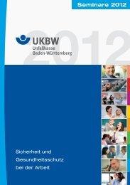Seminare 2012 - Unfallkasse Baden-Württemberg