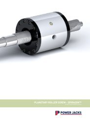 PLANETARY ROLLER SCREW - SPIRACON