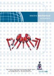 electro mechanical actuators