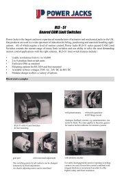 RLS - 51 Geared CAM Limit Switches - Power Jacks