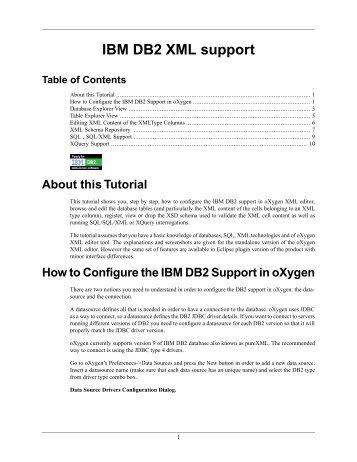 IBM DB2 XML support