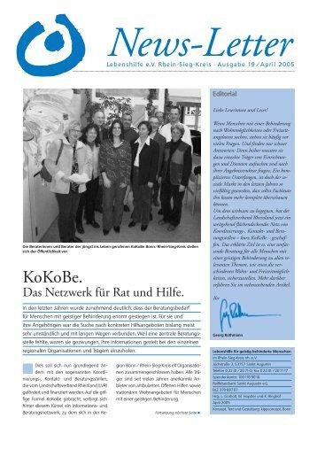 News-Letter - Lebenshilfe Rhein Sieg für Menschen mit geistiger ...