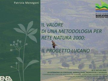 DI UNA METODOLOGIA PER RETE NATURA 2000 IL PROGETTO LUCANO