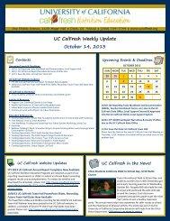 UC CalFresh Weekly Update October 14, 2013