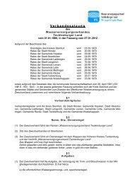 Verbandssatzung - Wasserverband Tecklenburger Land