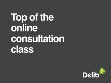 Top of the online consultation class