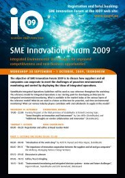 SME Innovation Forum 2009