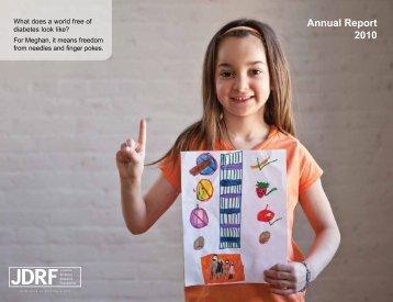 Annual Report 2010 - JDRF Canada