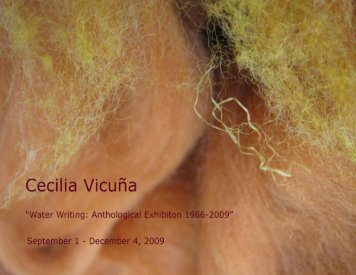 Water Writing: Anthological Exhibition 1966 - 2009 - Rutgers ...