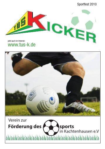 TuS Kachtenhausen Kicker für das Sportfest 2010