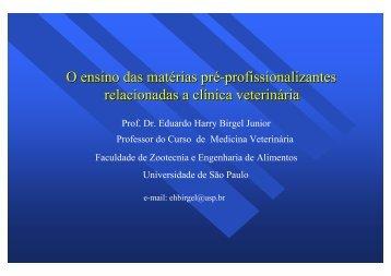 O ensino das matérias pré-profissionalizantes ... - CRMV-SP