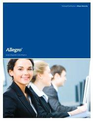 Training & Certification | Allegro University