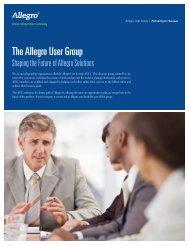The Allegro User Group