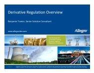 Derivative Regulation Overview - Allegro Development Corporation