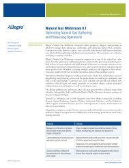 Natural Gas Midstream - Allegro Development Corporation