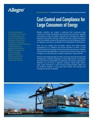 Cost Control and Compliance for Large Consumers of Energy