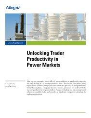 Unlocking Trader Productivity in Power Markets