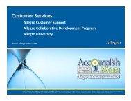 Education--Allegro-S.. - Allegro Development Corporation