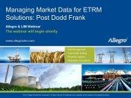 Solutions Post Dodd Frank